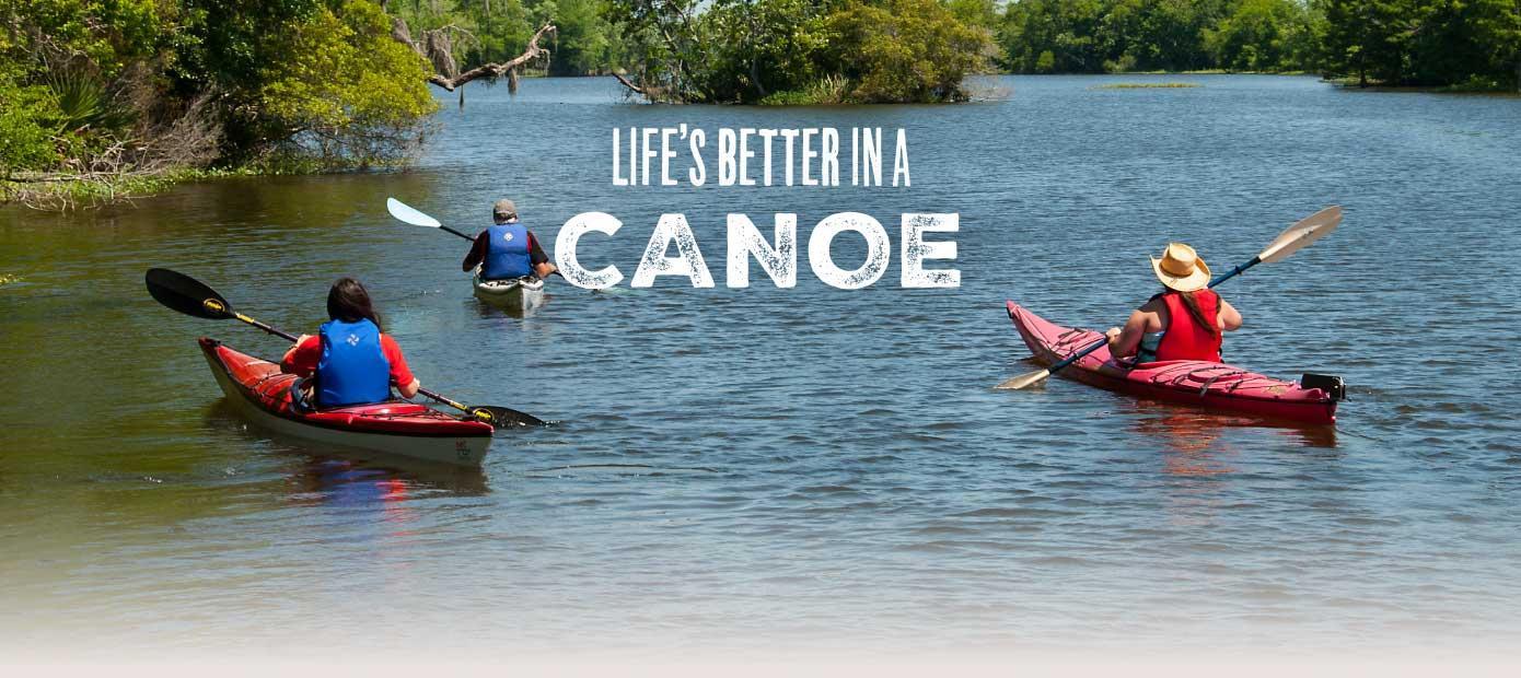 Louisiana's Cajun Coast - Life's better in our canoes.